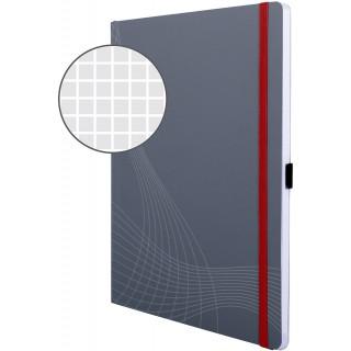 AVERY ZWECKFORM Notizbuch notizio 7021 mit Softcover DIN A4 80 Blatt 90g/m² kariert grau
