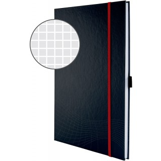 AVERY ZWECKFORM Notizbuch mit Hardcover A4 kariert dunkelgrau