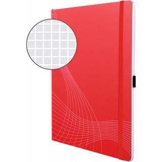 AVERY ZWECKFORM Notizbuch mit Softcover A4 kariert rot