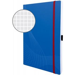 AVERY ZWECKFORM Notizbuch mit Softcover A4 kariert blau