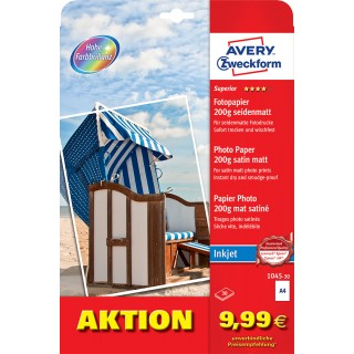 AVERY ZWECKFORM Superior Fotopapier 1045-30 A4 200 g/m² 30 Blatt