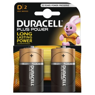 DURACELL Plus Power Batterien D 2 Stück