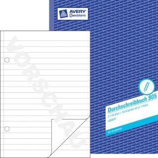 AVERY ZWECKFORM Durchschreibbuch A4 2 x 50 Blatt liniert blau