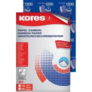 KORES Durchschreibepapier A4 10 Blatt blau