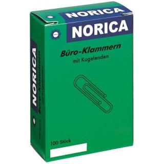 NORICA Büroklammern 7,7 cm 100 Stück silber