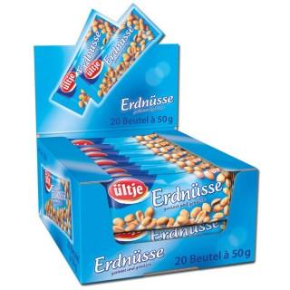 ÜLTJE Erdnüsse geröstet und gesalzen 20 x 50 g