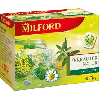 """MILFORD Tee """"9 Kräuter Natur"""" 40 Stück"""