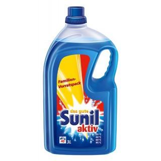 SUNIL Flüssigwaschmittel aktiv 3 Liter