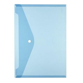 HERLITZ Dokumententasche A4 PP transparent blau