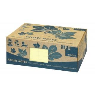 INFO NOTES Recycling Haftnotizen 12, x 7,5 cm 12 Stück à 100 Blatt gelb