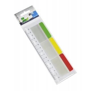 INFO NOTES Indexstreifen auf Lineal 5 x 3,8 cm 3 Stück à 10 Blatt