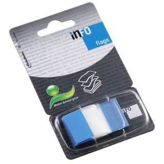INFO NOTES Indexstreifen 2,5 x 4,3 cm 50 Blatt blau