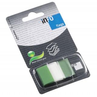 INFO NOTES Indexstreifen 2,5 x 4,3 cm 50 Blatt grün