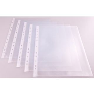 Klarsichthülle A4 genarbt 120 µm 100 Stück transparent