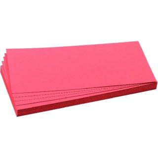 FRANKEN Moderationskarten 20,5 x 9,5 cm rot