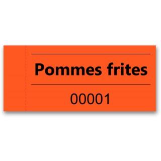 """OMEGA Gutscheinblock """"Pommes"""" 100 Blatt orange"""