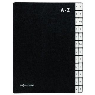PAGNA Pultordner A4 A-Z schwarz