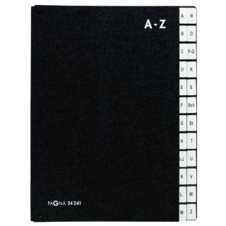 PAGNA Pultordner A4 A-Z Hartpappe schwarz