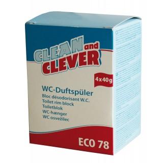 CLEAN & CLEVER WC Duftspüler Citrusfrische Eco78 4 Stück
