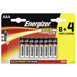 ENERGIZER Batterie Max LR03 AAA 12 Stück