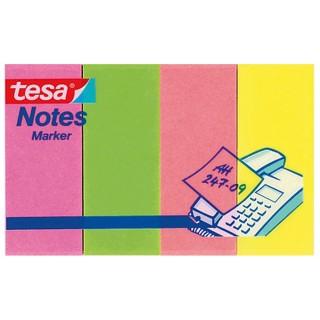 TESA Papiermarker 20 x 50 mm 4 Stück mehrere Farben
