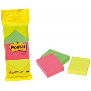 POST-IT Haftnotiz 6812N 51 x 38 mm 3 Stück mehrere Farben