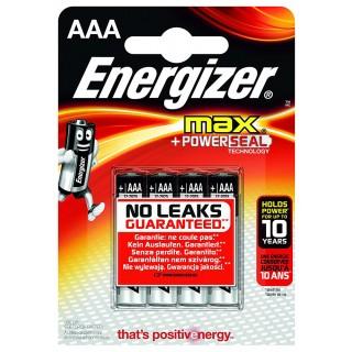 ENERGIZER Batterie Max LR03 AAA 4 Stück