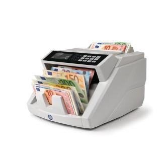 SAFESCAN 2465-S Banknotenzähler mit Wertzählung gemischter Euro-Banknoten grau