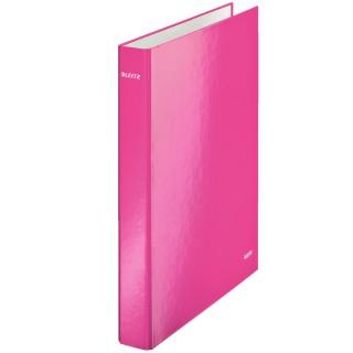 LEITZ WOW Ringbuch 4 cm mit 2 Ringen pink