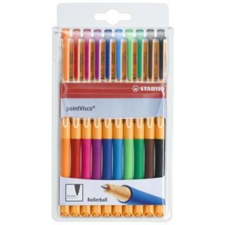 STABILO Tintenroller pointVisco 1099 0,5 mm im Etui 10 Stück mehrere Farben