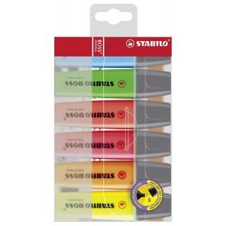 """STABILO Textmarker """"Boss"""" 2-5 mm 6 Stück"""
