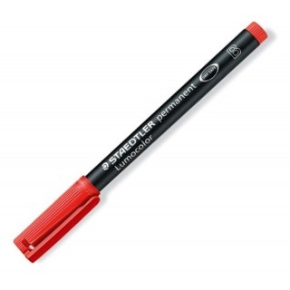 STAEDTLER LUMOCOLOR OHP-Stift 314 permanent 1-2,5 mm rot