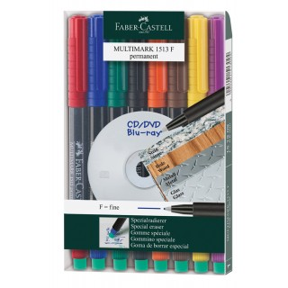 FABER CASTELL Folienstift Multimark 0,6 mm permanent 8er Etui
