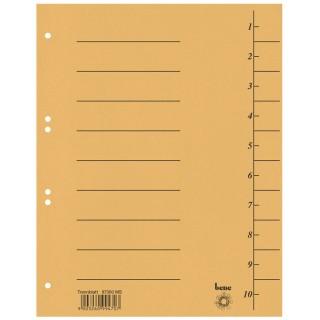 BENE Trennblatt mit Druck 100 Stück maisgelb