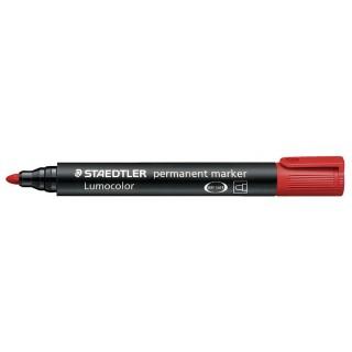 STAEDTLER LUMOCOLOR Permanentmarker 352 mit Rundspitze 2 mm rot