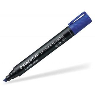 STAEDTLER Permanentmarker Lumocolor 350 mit Keilspitze 2-5 mm blau