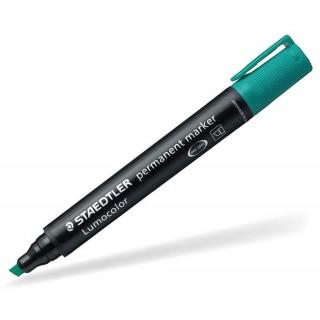 STAEDTLER Permanentmarker Lumocolor 350 mit Keilspitze 2-5 mm grün