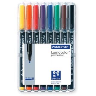 STAEDTLER OHP-Stift Lumocolor 314 permanent 1+2,5 mm 8 Stück mehrere Farben