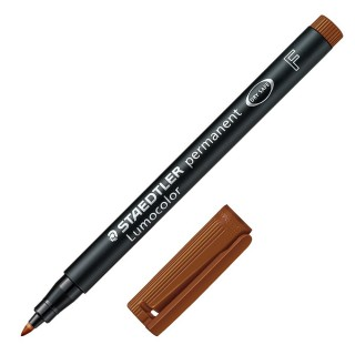 STAEDTLER OHP-Stift Lumocolor 318 permanent 0,6 mm braun