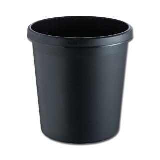 HELIT Papierkorb 18 Liter schwarz