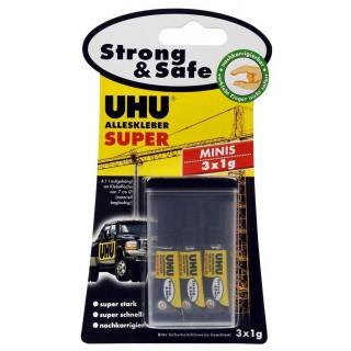 UHU Alleskleber Super Strong & Safe minis 1 g 3 Stück