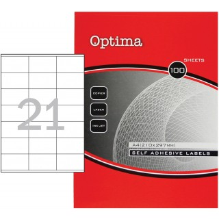 OPTIMA Etiketten 32091 7 x 4,1 cm 100 Blatt weiß