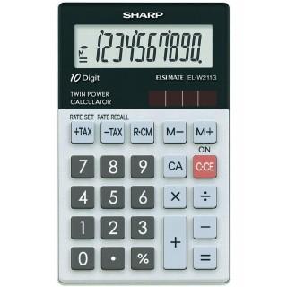 SHARP Taschenrechner EL-W211GGY grau