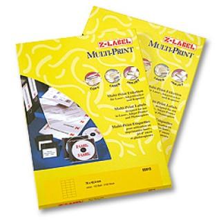 Z-LABEL Etiketten A4 7 x 3,6 cm 2.400 Stück