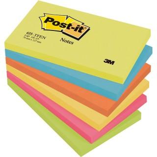 POST-IT Haftnotiz 655 6 Stück mehrere Farben