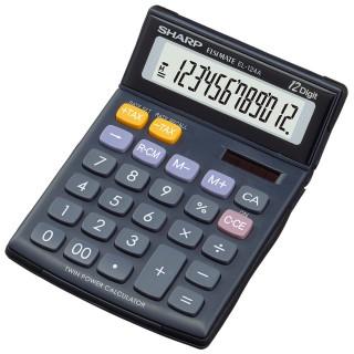 SHARP Tischrechner EL-124 TWH