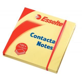 ESSELTE Haftnotizen Contacta Notes 7,5 x 7,5 cm 12 Stück gelb