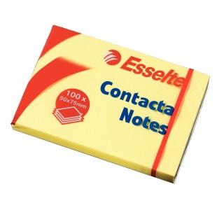 ESSELTE Haftnotizen Contacta Notes 5 x 7,5 cm 12 Stück gelb