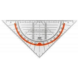 ARISTO Geodreieck GeoCollege mit Griff 16 cm transparent