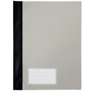 BENE Schnellhefter 281100 DIN A4 mit Einsteckfach und Beschriftungsschild PVC schwarz